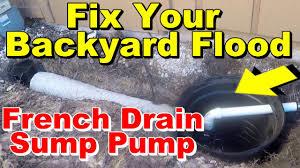 french drain yard drain ez flow with backyard pump fix for