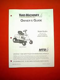 mtd yard man rear engine riding mower series 560 thru 561 owner u0026