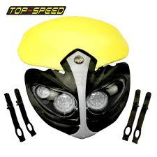 yellow dirt bike headlight lamp for suzuki dr drz rm 650 200 250