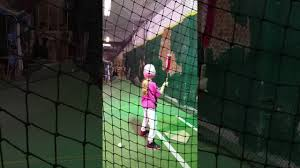 Basement Batting Cage by 7 Year Old At Batting Cages Youtube