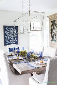 splurge vs save blue thanksgiving tablescape a giveaway