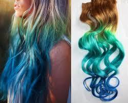 mermaid hair extensions mermaid clip in hair extensions ombre hair tie dye tips