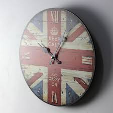 aliexpress com buy vintage british style round wood wall clock