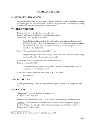 salon resume examples resume example for qualifications frizzigame resume examples highlights of qualifications frizzigame