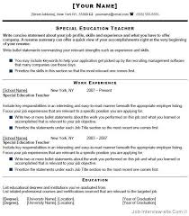 Resume Sample For Teaching by Winning Special Education Teacher Resume Sample Impressive