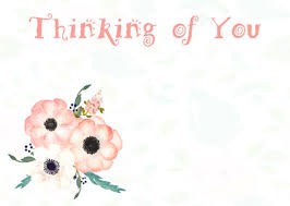 thinking of you flowers gift enclosure cards thank you thinking of you