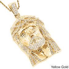 gold jesus pendant necklace images Luxurman 14k gold 1 4 5ct tdw round diamond 39 jesus 39 pendant free jpg
