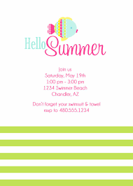 summer party invitations summer pool party invitations card