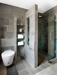 Small Contemporary Bathroom Ideas I Like The Small Built In Shelves Bathroom Function
