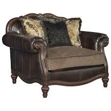 Reclining Chair And A Half Leather Traditional Chair And A Half U0026 Ottoman By Signature Design By