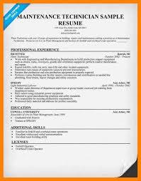 Ndt Technician Resume Sample by Maintenance Technician Resumes Corpedo Com