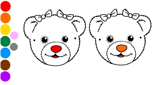 draw and colors cute teddy bears coloring page youtube