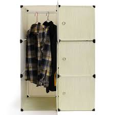 6 cube portable clothes closet organizer wardrobe storage hanging