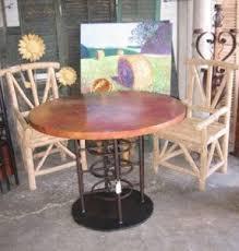 copper pub table foter