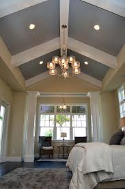 vaulted ceiling master bedroom beam gray wall google search