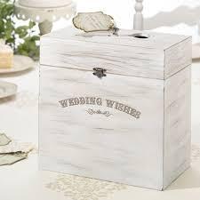 wooden wedding wishes card box wedding gift card holder