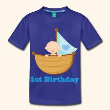 1st birthday boy baby s 1st birthday boy in boat t shirt birthday shirts t