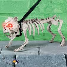 halloween dog skeleton barking standing skeleton ghost dog with light up eyes halloween