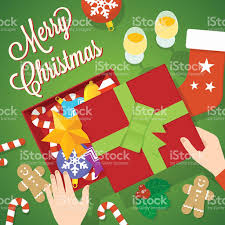 flat style christmas vector card or background stock vector art