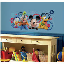 kids wall decals walmart com mickey and friends mickey mouse clubhouse capers peel and stick giant wall decals
