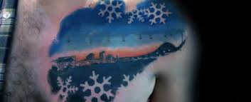 100 snowflake tattoo designs for men ice crystal ink ideas