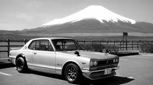 vintage nissan skyline 1970 nissan skyline 2000 gt r in front of mount fuji 1600x900