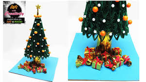paper quilling christmas tree merry christmas art with
