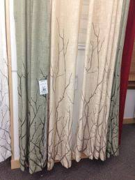 great printing silver blackout curtains with abstract tree