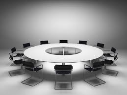 Circular Meeting Table Large Round Meeting Table Bonners Furniture