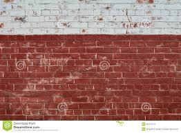old brick wall with white paint on top stock image image 45474141