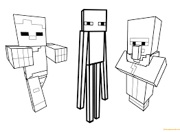 steve sitting minecraft coloring free coloring pages