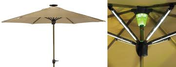 Lighted Patio Umbrella Solar Powered Lighted Patio Umbrella The Green