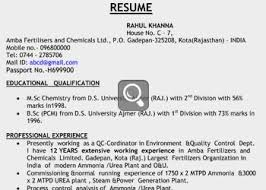 sample resume analysis for professionals graduates and freshers