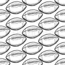 sketch american football ball vector vintage seamless pattern