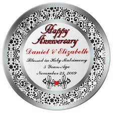 personalized anniversary plates 36 best 5th anniversary gift ideas images on gift