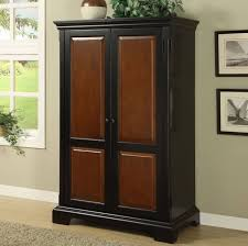 Modern Computer Armoire Black And Brown Computer Armoire For Modern Bedroom The Best