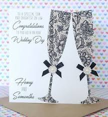 wedding day card personalised handmade congratulations on your wedding day card