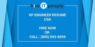 Rf Engineer Resume Sample by Rf Engineer Resume Hire It People We Get It Done