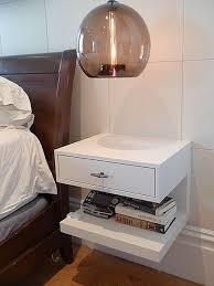 floating bedside shelf floating night stand drawers white floating