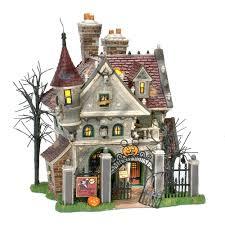 department 56 snow village mickey u0027s haunted house halloween