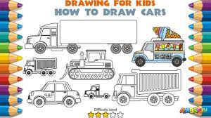 learn cars for kids how to draw for kids coloring pages