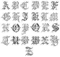 tattoo lettering styles alphabet jpg 600 571 420 pinterest