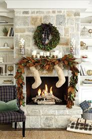 pretty living room home christmas decoration shows enticing green