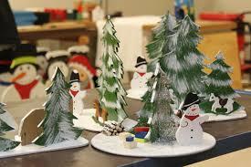 pine tree and snowman decor free image peakpx