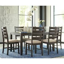 signature design by ashley linwood 7 piece rectangular dining set