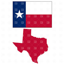 State Flag Of Texas Texas State Map And Flag Royalty Free Vector Clip Art Image 1067