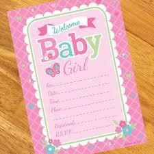 baby girl invitations welcome baby girl invitations 8