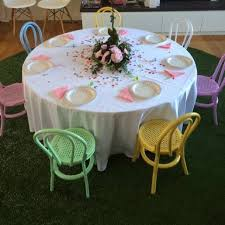 Hire Garden Table And Chairs Round Table And Kids Bentwood Chairs For Hire Mini Party People