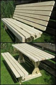Plans For Picnic Table Bench Combo by Folding Picnic Table To Bench Seat Free Plans How Awesome Is