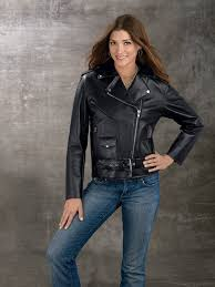 Cowhide Leather Vest Leathercoatsetc Ladies Genuine Cowhide Leather Motorcycle Jacket
